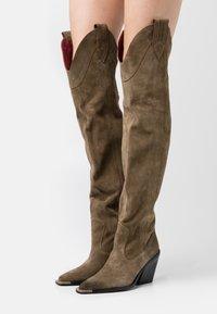 Bronx - NEW KOLE - High heeled boots - moss - 0