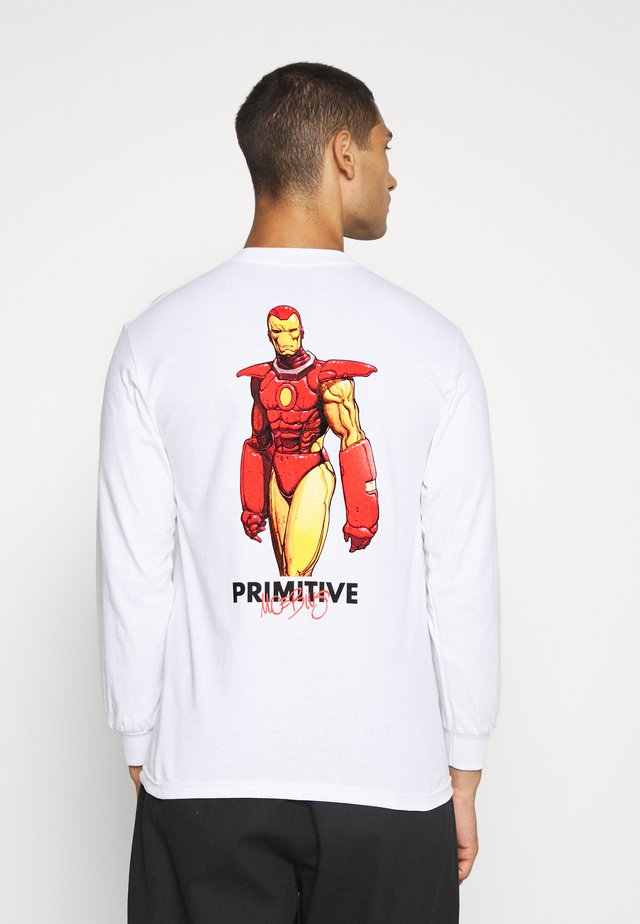 IRON MAN TEE - Topper langermet - white