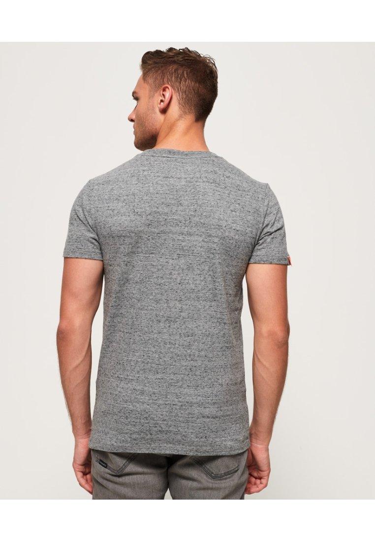 Superdry VINTAGE  - Basic T-shirt - flint stahlgrau gesprenkelt QPt6F