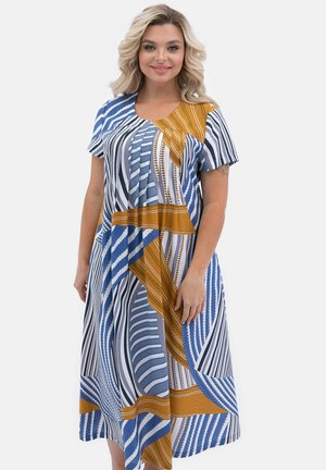 MIT ALLOVER - Maxi dress - blau