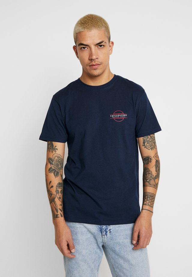 KNOWN TEE - T-shirts med print - navy