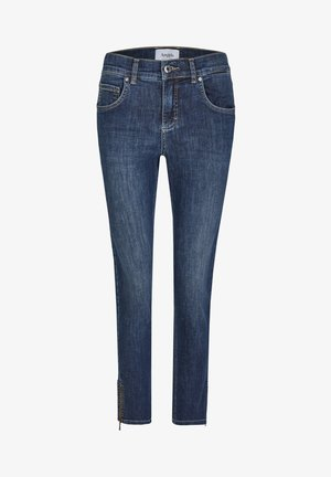 ANKLE ZIP SHINE' MIT MODISCHEN DETAILS - Jeans Skinny Fit - blue denim