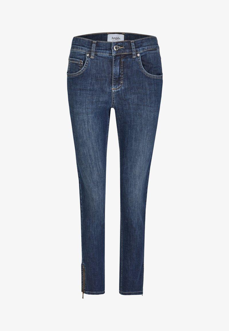 Angels - ANKLE ZIP SHINE' MIT MODISCHEN DETAILS - Jeans Skinny Fit - blue denim