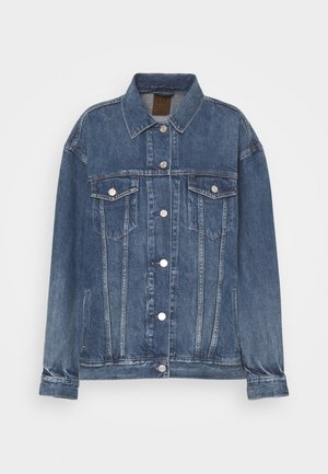 OVERSIZED DAD JACKET - Jeansjakke - medium indigo
