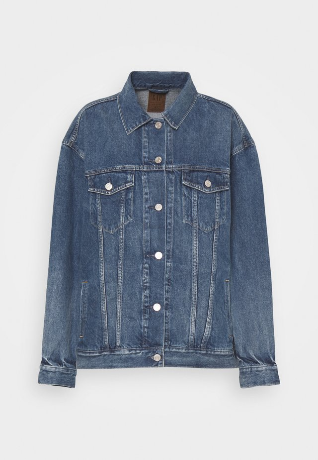 OVERSIZED DAD JACKET - Veste en jean - medium indigo
