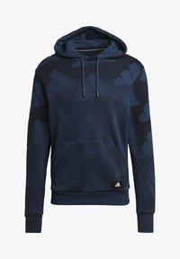 adidas Originals - FI Graphic PO BD MUST HAVES SPORTS RELAXED SWEATSHIRT HOODIE - Luvtröja - blue - 6