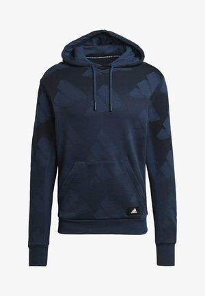 FI Graphic PO BD MUST HAVES SPORTS RELAXED SWEATSHIRT HOODIE - Hættetrøjer - blue
