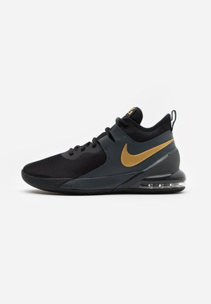 AIR MAX IMPACT - Basketbalové boty - black/metallic gold/dark smoke grey
