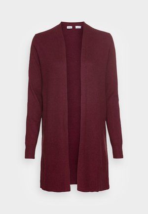 V BELLA OPEN THIRD - Cardigan - burgundy