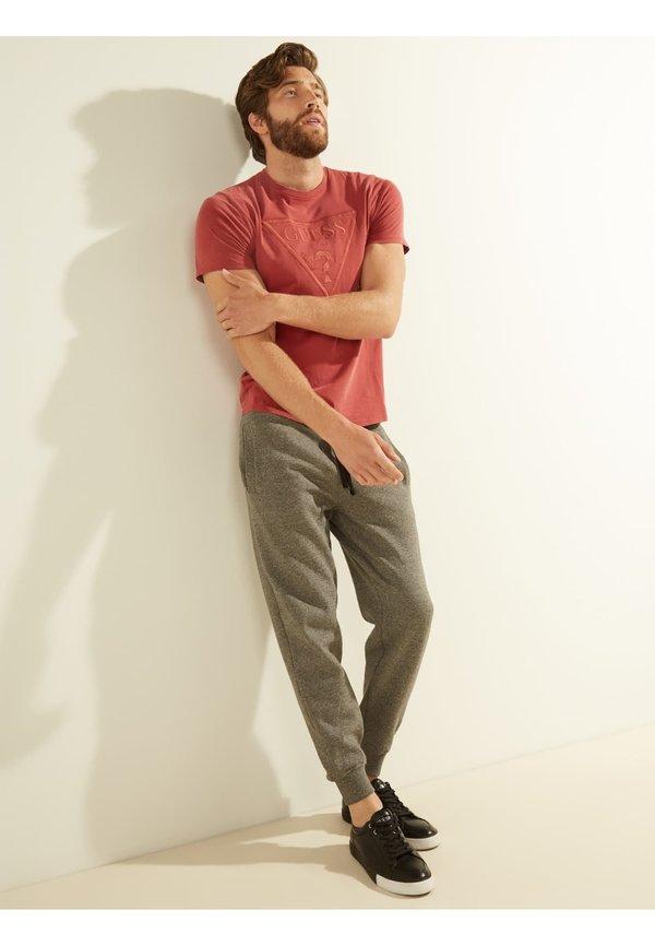 Guess TRIANGLE - T-shirt z nadrukiem - rouge/czerwony Odzież Męska NFGF