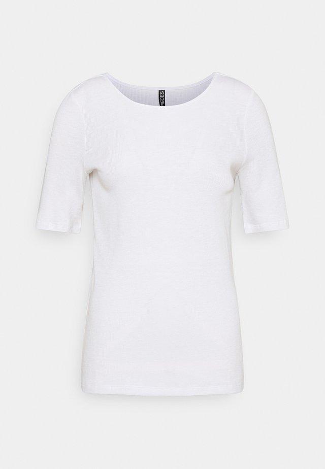 PCLASA TEE LOUNGE  - Jednoduché triko - bright white
