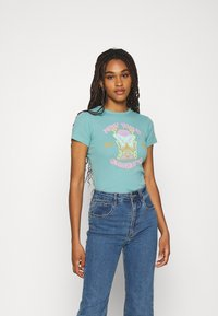 BDG Urban Outfitters - NEW WAVE SUNSHNE BABY TEE - Print T-shirt - turquoise - 0