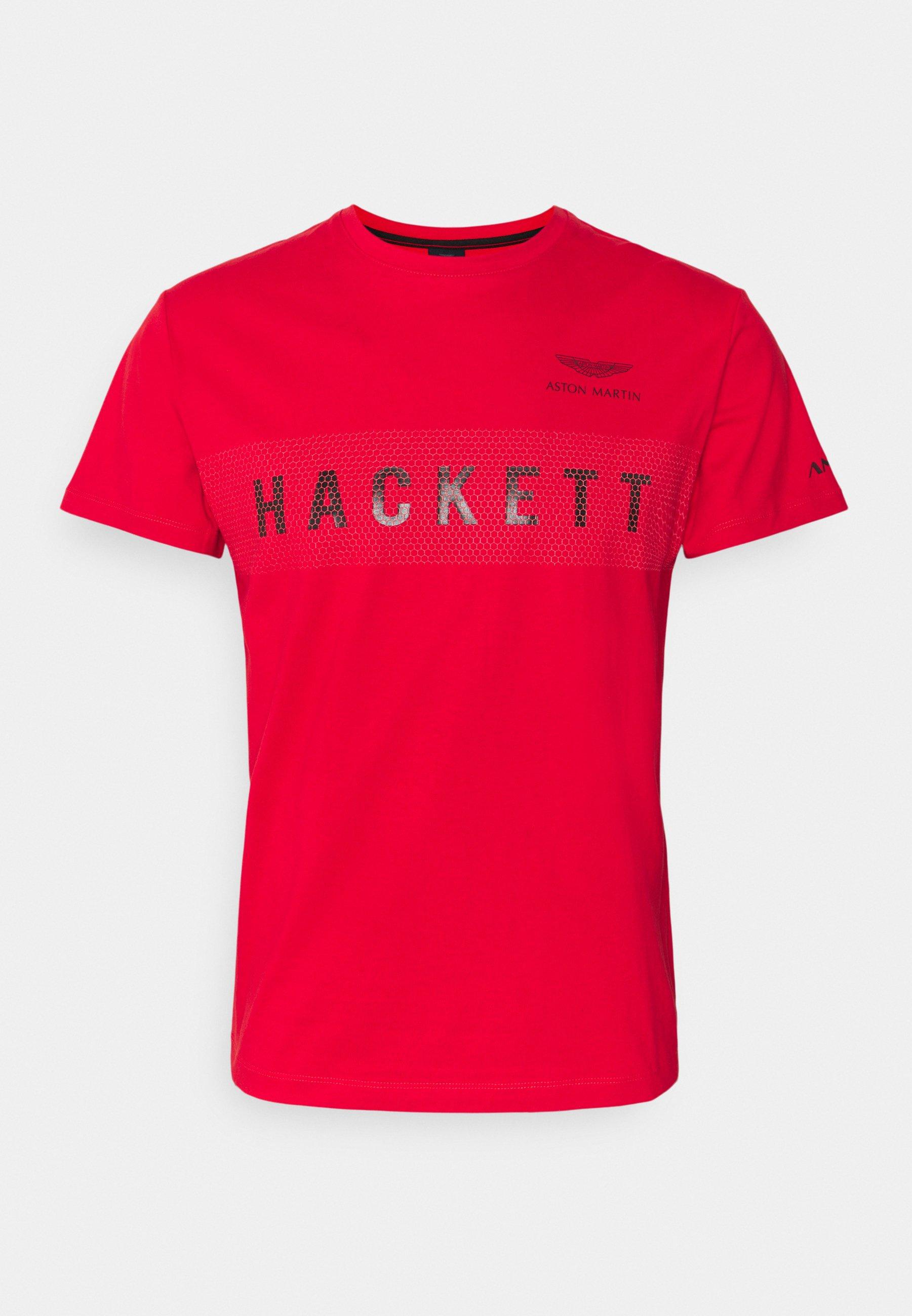 Hackett Aston Martin Racing Hackett Tee T Shirt Print Red Rot Zalando De