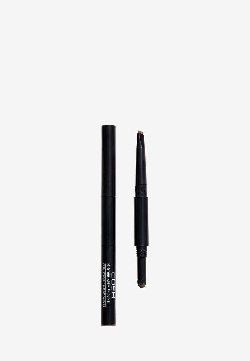 Gosh Copenhagen - BROW SHAPE & FILL - Eyebrow pencil - 002 greybrown