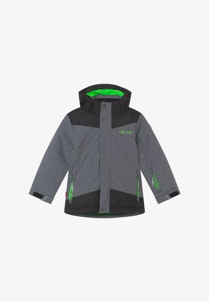 KIDS NOREFJELL  - Snowboard jacket - grey melange/bright green