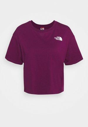 CROPPED SIMPLE DOME TEE  - Jednoduché triko - pamplona purple
