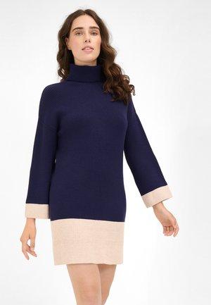Jumper dress - dark blue/beige