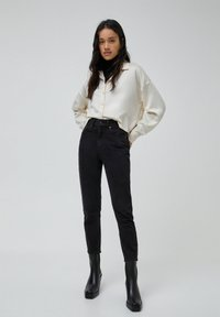 PULL&BEAR - MOM - Jeans baggy - black - 1