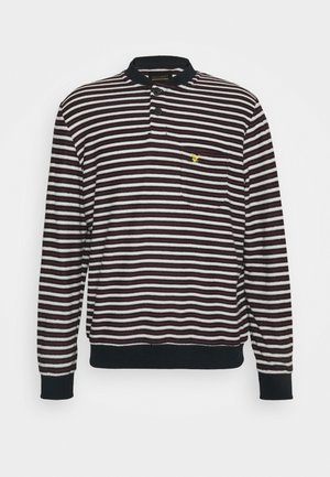 ARCHIVE BOMBER COLLAR STRIPED JUMPER RELAXED FIT - Sweatshirt - dark navy