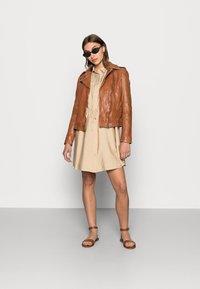 Gipsy - Leather jacket - cognac - 1