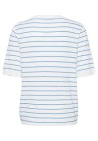 Kaffe - Print T-shirt - chalk chambray blue stripes - 5