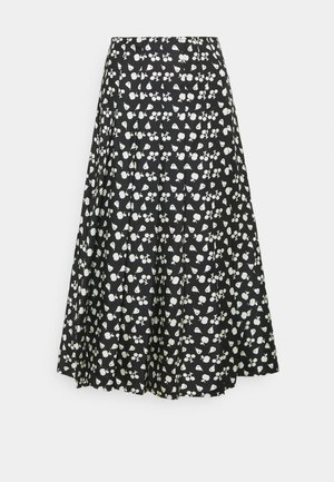 PLEATED SKIRT - A-line skjørt - black/cream