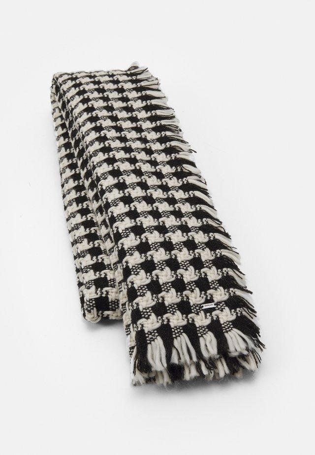 ABECKA SCARF - Scarf - black/white