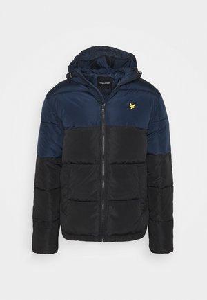 Winter jacket - jet black/dark navy