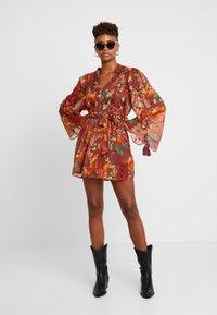 Topshop - AUTUMN FLORAL TASSEL TIE - Day dress - multi - 2
