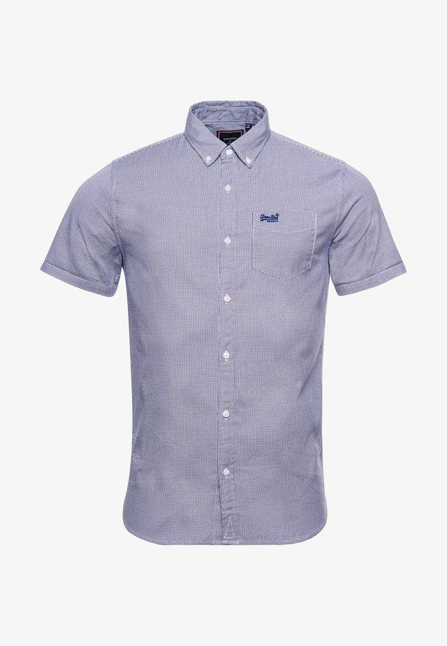 Overhemd - broken gingham blue