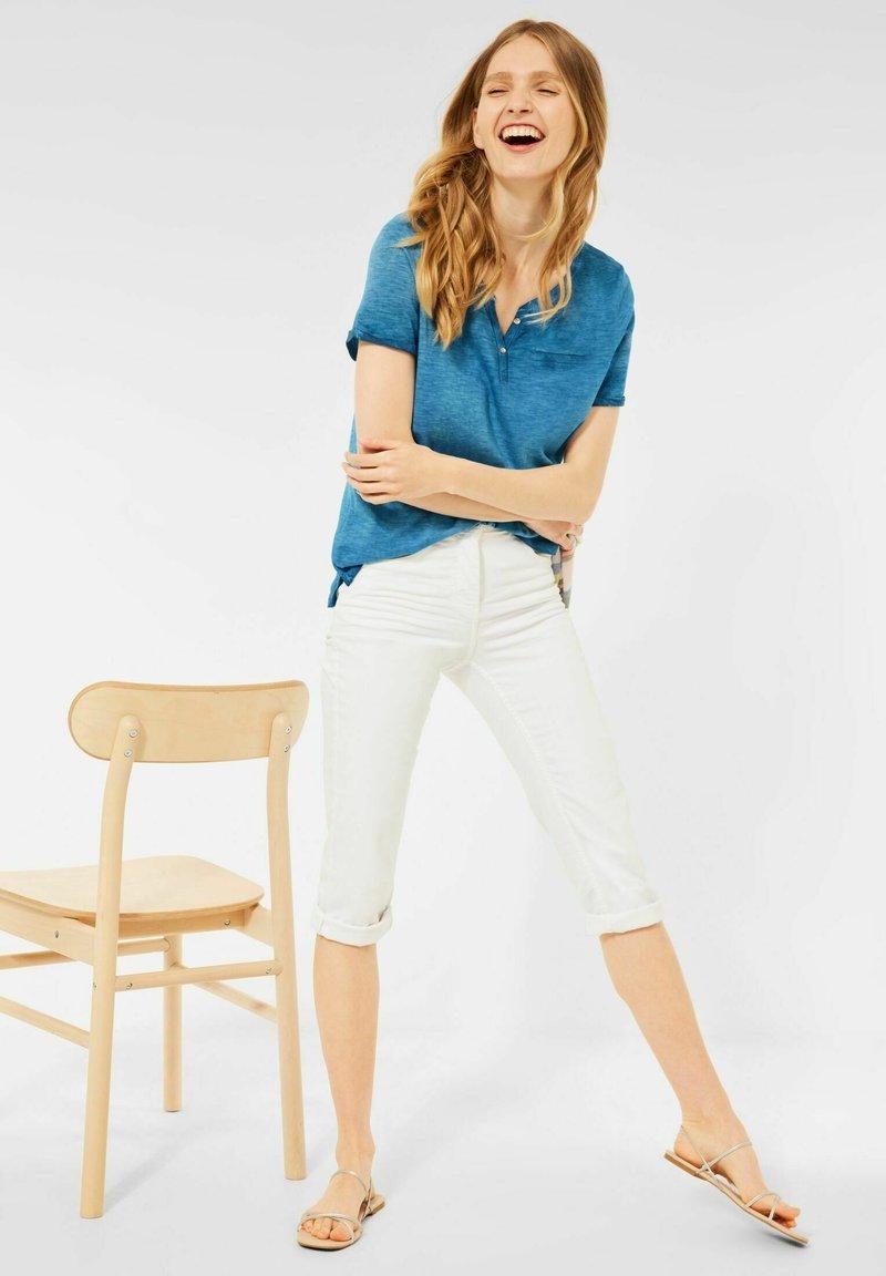 Cecil - MIT FLAMMGARN - Basic T-shirt - blau