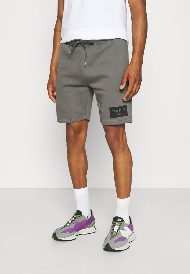 TONAL BOX LOGO - Shorts - charcoal