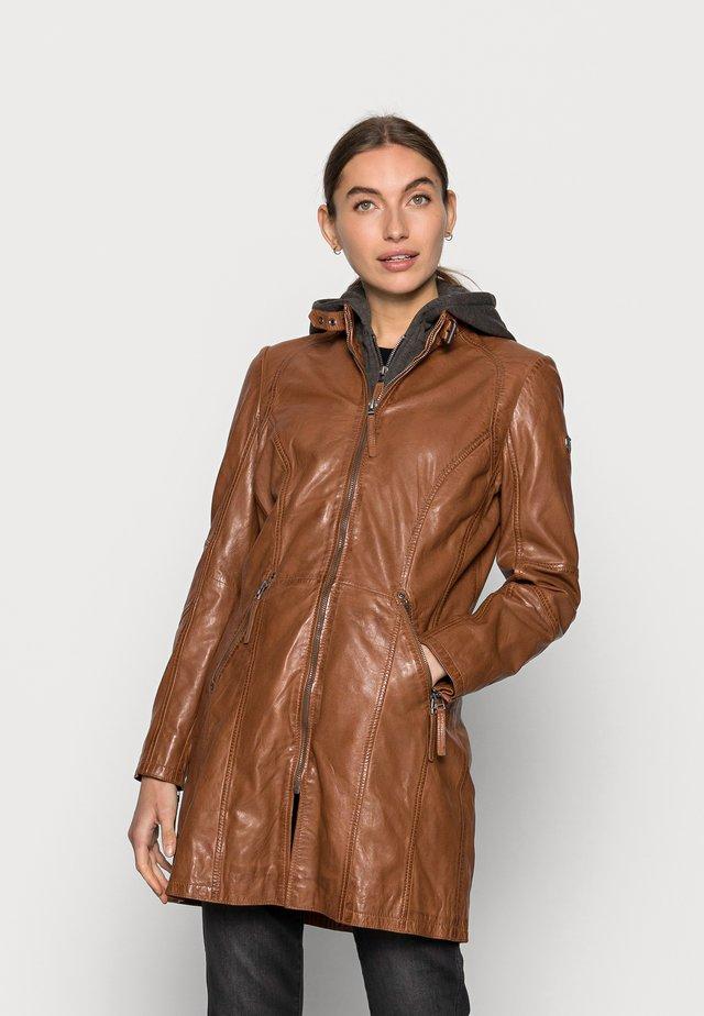 JANDRA LAMAS - Leather jacket - cognac
