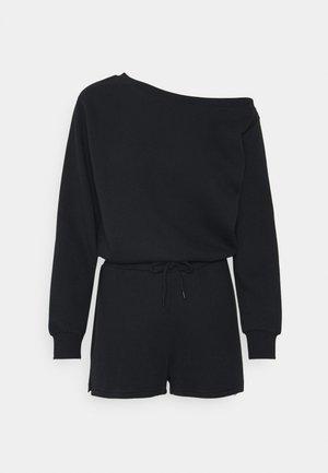 SWEAT - Off-shoulder playsuit - Jumpsuit - black