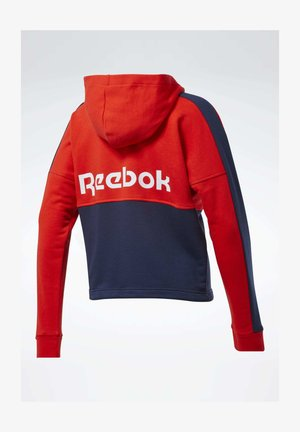 TRAINING ESSENTIALS LOGO HOODIE - Felpa aperta - red