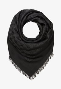 Tory Burch - LOGO TRAVELER SCARF - Chusta - black - 1