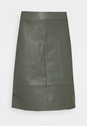 CHARGZ  - Kožená sukně - tapenade