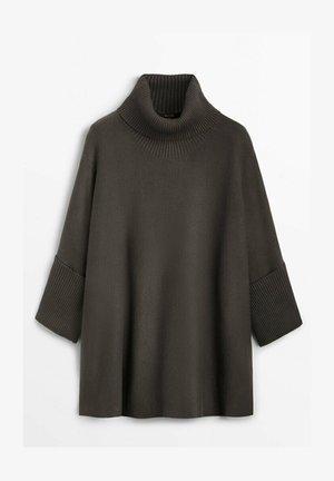 MIT SEITLICHEM SCHLITZ  - Pullover - dark grey