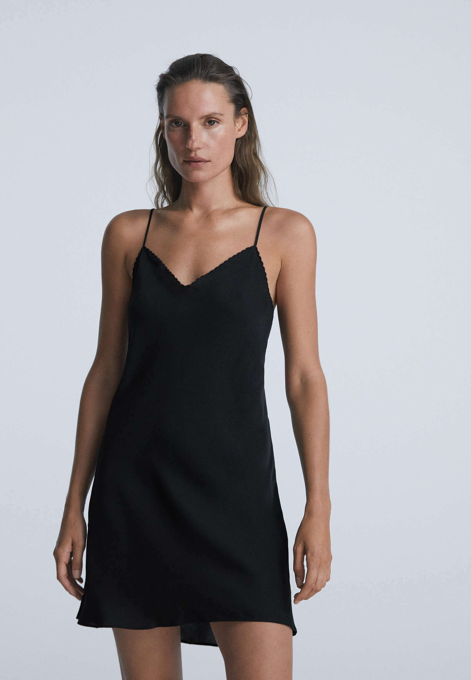 Damen SHORT SATIN  - Nachthemd