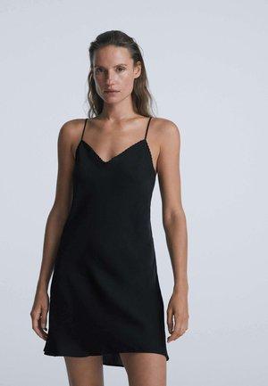 SHORT SATIN  - Camicia da notte - black
