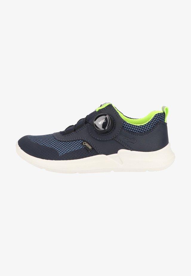 Sneaker low - blau/gelb