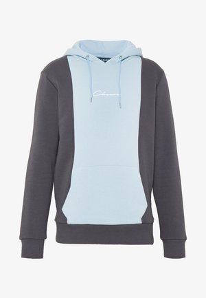 VERTICAL CUT HOODY - Sweat à capuche - grey