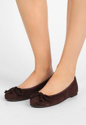 ANGELIS - Ballet pumps - marron