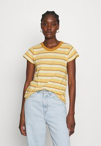 Madewell - PERFECT VINTAGE TEE - Print T-shirt - sahara sand - 0