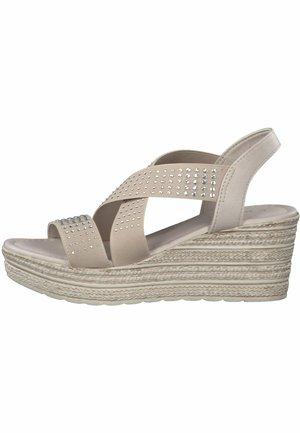 MARCO TOZZI - Platform sandals - taupe comb