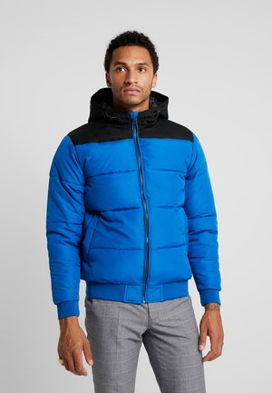 ONSBOSTON QUILTED BLOCK HOOD - Winter jacket - baleine blue