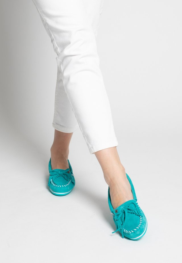 KILTY PLUS - Mocassins - light turquoise