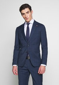 Tommy Hilfiger Tailored - PEAK LAPEL CHECK SUIT SLIM FIT - Oblek - blue - 4