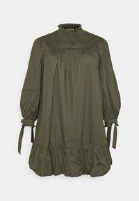 Glamorous Curve - TIE SLEEVE SMOCK DRESS - Day dress - khaki - 3