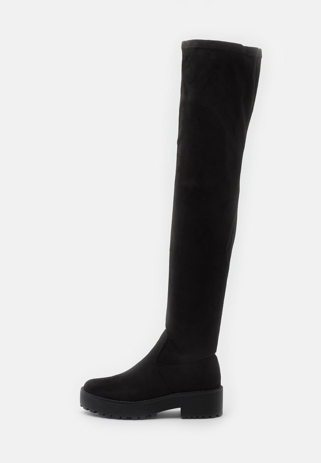 Kozačky nad kolena - black